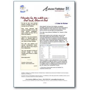 Fiche Astuce sur FileMaker Go